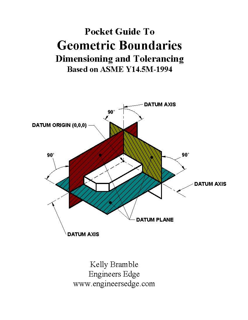 Asme Y145m 1994 Pocket Guide Single Book Geometric Boundarie