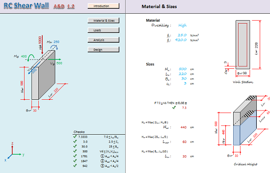Shear Wall Design Xls : Rc shear wall analysis and design spreadsheet calculator engineers edge engineersedge