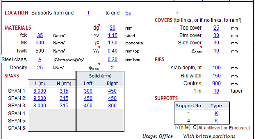 ribbed concrete slab design spreadsheet calculator engineers edge