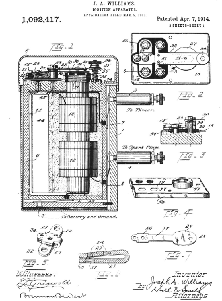 Illustration from Joseth A. Williams 1914 patent