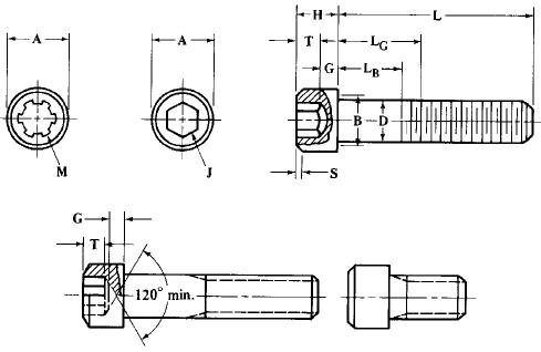 Metric Socket Head Cap Screws Size Table | Engineers Edge