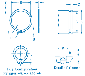 Metric Tapered Retaining Snap Rings Size Chart Engineers Edge