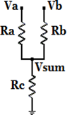 oltage Summing Resistors Circuit Equation and Calculator