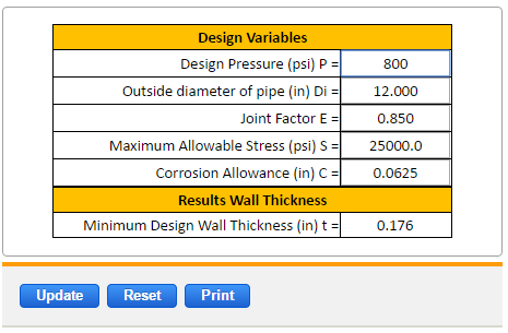 Reinforcement Wall Thickness Plate ASME Pressure Vessel Section VIII